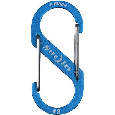 Nite Ize S-Biner #3 Aluminum Dual Carabiner, Anodized Blue