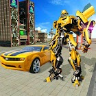 Real Robot Car Transformer War icon