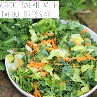 Kale Carrot Salad with Lime Tahini Dressing Recipe