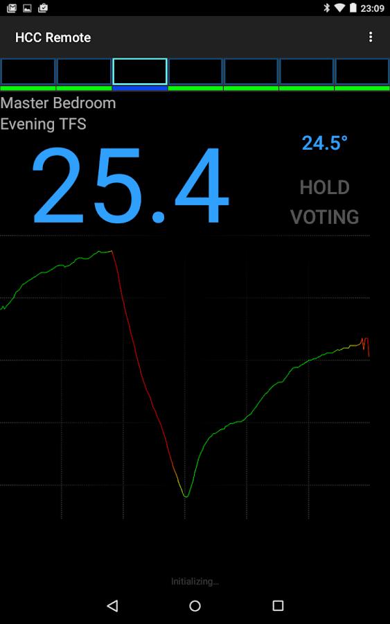 Home Climate Control Remote - screenshot