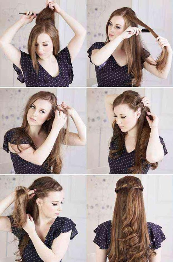 Outstanding Easy Hairstyle Step By Step Android Apps On Google Play Hairstyle Inspiration Daily Dogsangcom