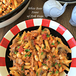 White Bean Penne with Pork Ragu