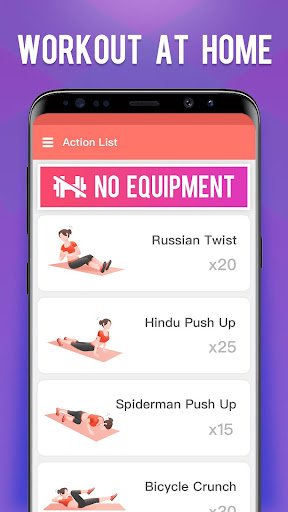 Home Workout-Lose weight & build shape - screenshot