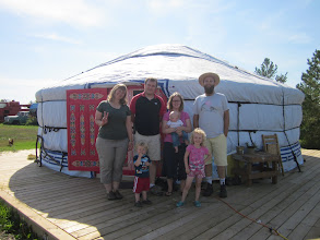 Photo: At the yurt with friends from Korea/Alberta