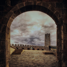 Arches of Rabati Castle by Leyon Albeza - Instagram & Mobile iPhone ( travel photography, cobbled wall, ruins, travel locations, gate, travel, arches,  )