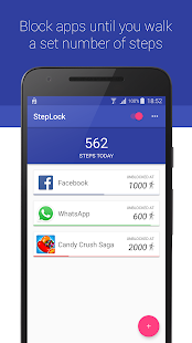 StepLock • Walk & Unblock Apps Screenshot