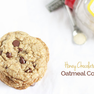 Honey Chocolate Chip Oatmeal Cookies.