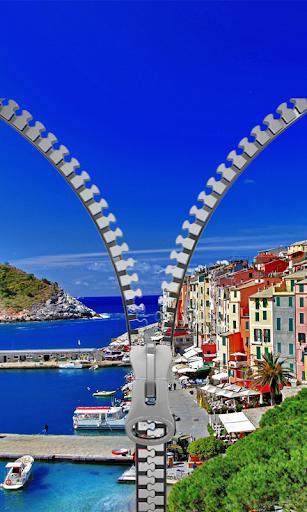 Italy Zipper Lock Screen