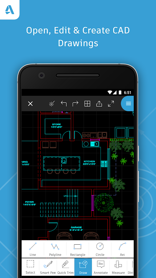 AutoCAD - DWG Viewer & Editor- หน้าจอ