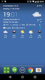 Transparent clock & weather Screenshot 1