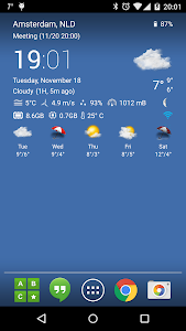 Transparent clock & weather screenshot 0