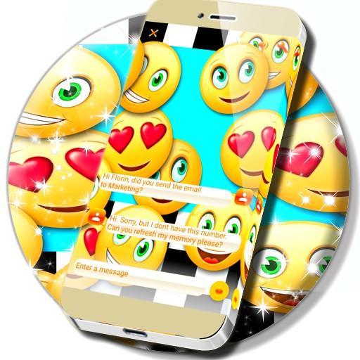 Emoji Racing SMS Theme