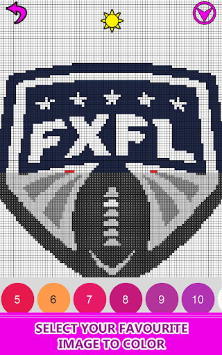 American Football Logo Pixel Art Color By Number App Report