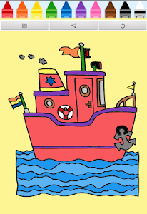 Coloring Book : Ship screenshot 0