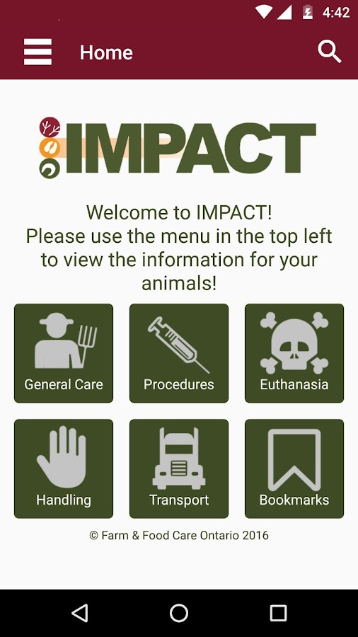 Farm IMPACT- screenshot
