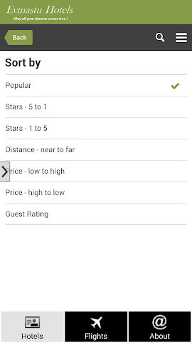 android New York Hotels and Flights Screenshot 3