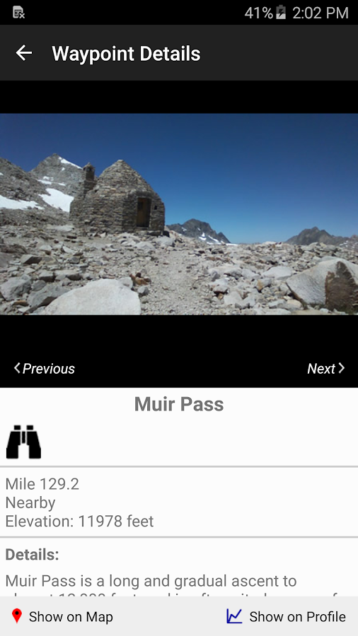 Guthook's JMT Guide - screenshot