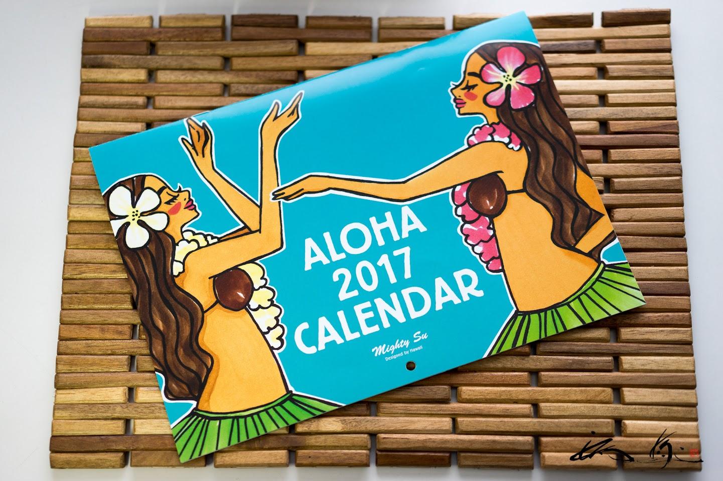 Mighty Suさん デザイン「 ALOHA 2017 CALENDAR 」