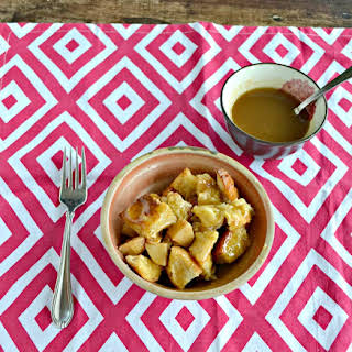 Apple Bread Pudding with Butterscotch Sauce #SundaySupper.