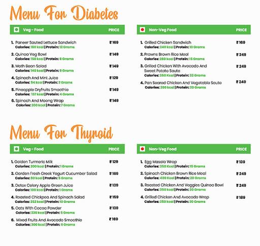 Healthy House menu 2