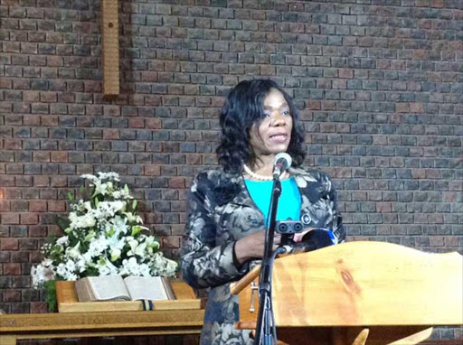 GIVE BACK: Outgoing public protector Thuli Madonsela delivers the annual Neil Aggett memorial lecture at Kingswood College Picture: DAVID MACGREGOR