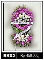 Bunga Krans duka cita di Sragen