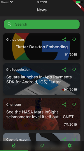 Flutter News screenshot 1