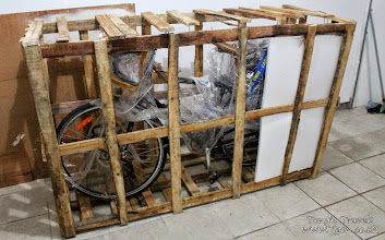 Photo: My bike packed up from shipping, Balikpapan, Borneo, Indonesia
