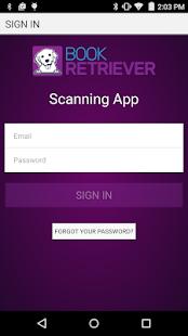 Book Retriever Scanning App - náhled