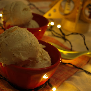 NO-CHURN EGGNOG ICE CREAM