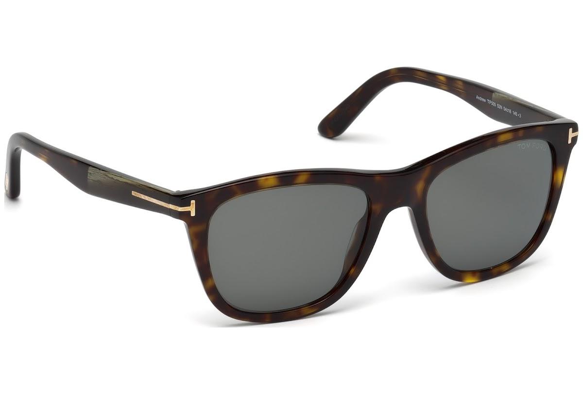 91a25e48781 Buy Tom Ford Andrew FT0500 C54 52N (dark havana   green) Sunglasses ...