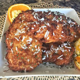 Coconut-Breaded Chicken.