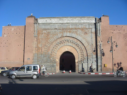 Bab Agnaou, built in the 12th century, is one of the 19 gates of Marrakesh, Morocco.