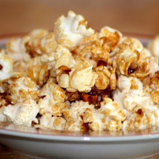 Caramel Corn with Honey Peanuts