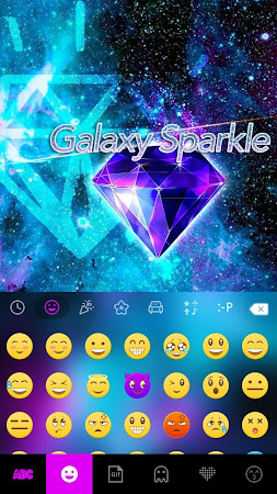 Galaxy Sparkle Kika Keyboard 8.0 screenshot 1272026
