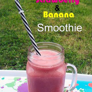 Strawberry & Banana Smoothie.