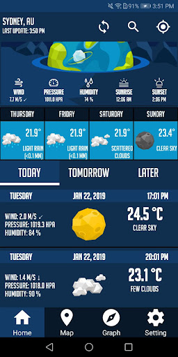 Screenshot for Weather Now Pro & Local Forecast Weather Maps in United States Play Store