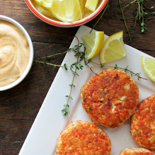 Salmon Cakes with Spicy Aioli.