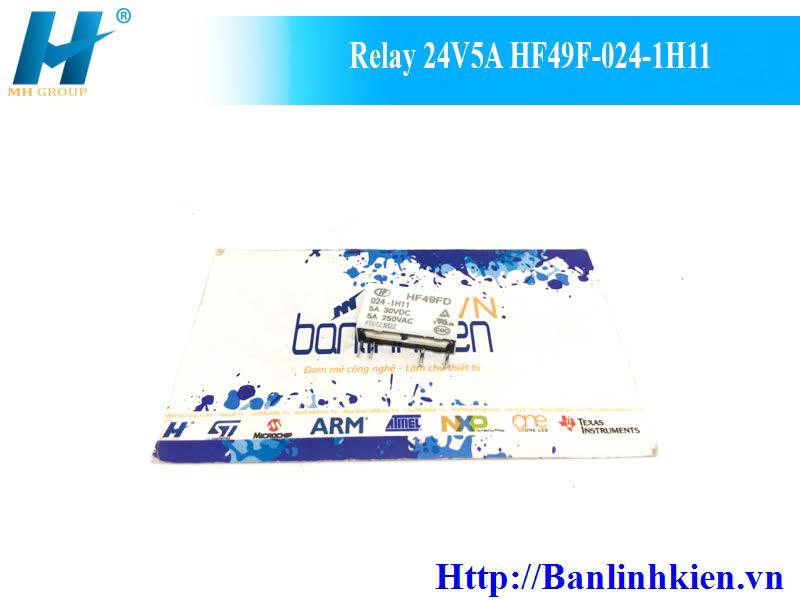 Relay 24V5A HF49F-024-1H11