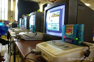 Photo: Super Nintendo équipées du Game Boy Player 2.