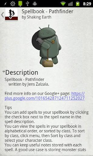Screenshot for Spellbook - Pathfinder in Hong Kong Play Store