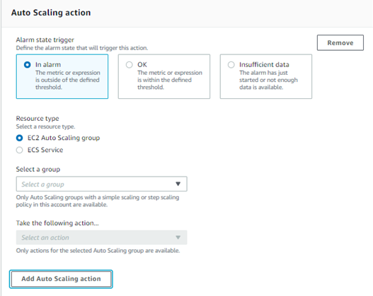 auto scaling action