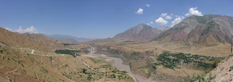 View over the Vakhsh valley.