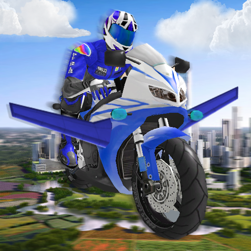 Futuristic Flying Moto Racing 賽車遊戲 App LOGO-硬是要APP