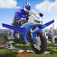 Futuristic Flying Moto Racing