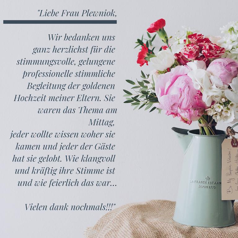 Hochzeitssängerin Freie Traurednerin Moni Plewniok