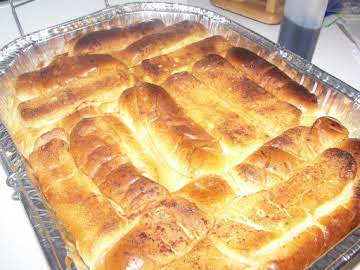 Hot Dog Bun Vanilla Bread Pudding
