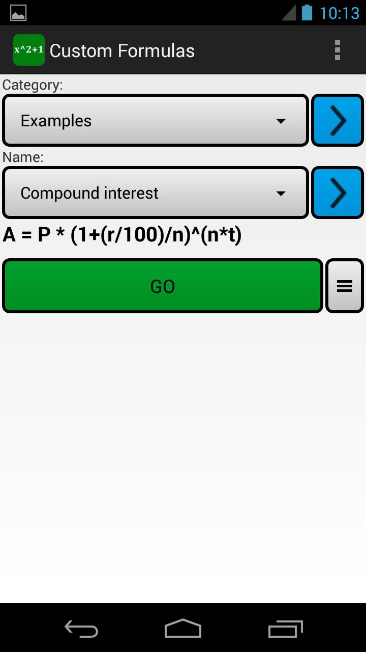 Custom Formulas Screenshot 0