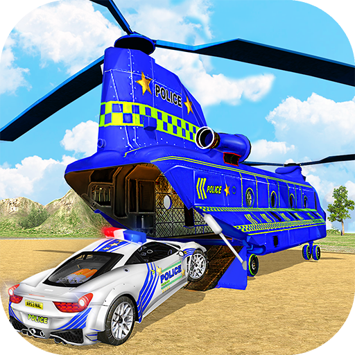 Offroad Police Truck Transport & Cargo Helicopter for PC