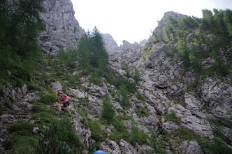 Photo: Početak plezalnog dijela. Tu nam je solidan kamen proletil točno između nas. Nisu baš pazili na spuštanju.